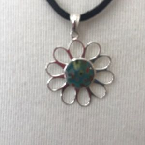 Venetian glass pendant .925 silver